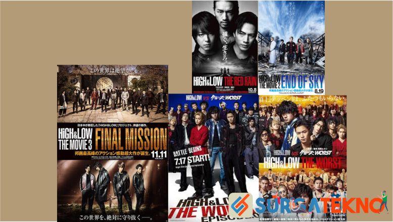 Urutan Film dan Drama Jepang High and Low