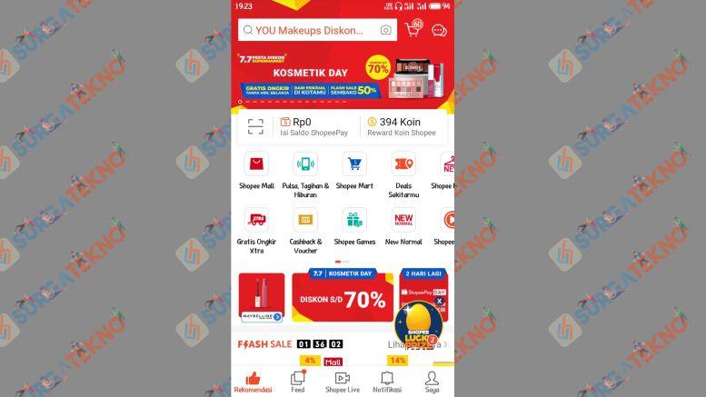 Buka Aplikasi Shopee - SurgaTekno