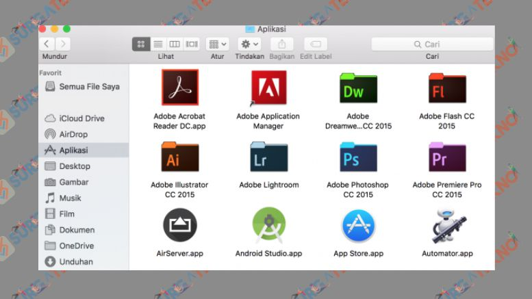 Buka Finder dan Pilih pada Bagian Aplikasi - Cara Mudah Uninstall Aplikasi di MacOS