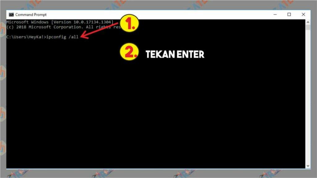 Cara Cek IP Address dengan Command Prompt