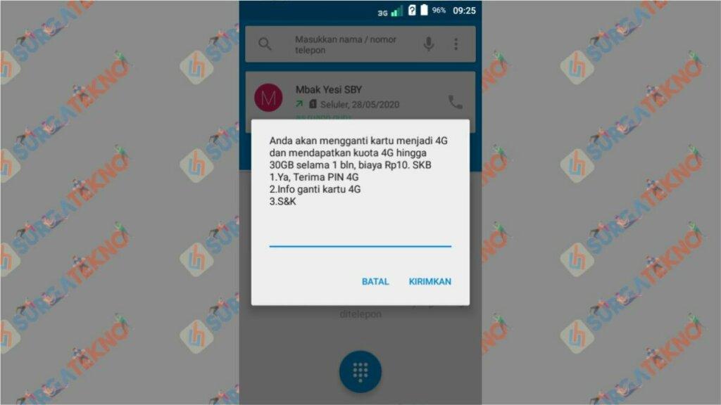 Langkah 2. Cara Upgrade Kartu Telkomsel ke 4G - Nomor Masih 3G