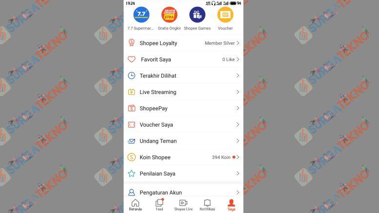 Pilih Menu Shopeepay - SurgaTekno