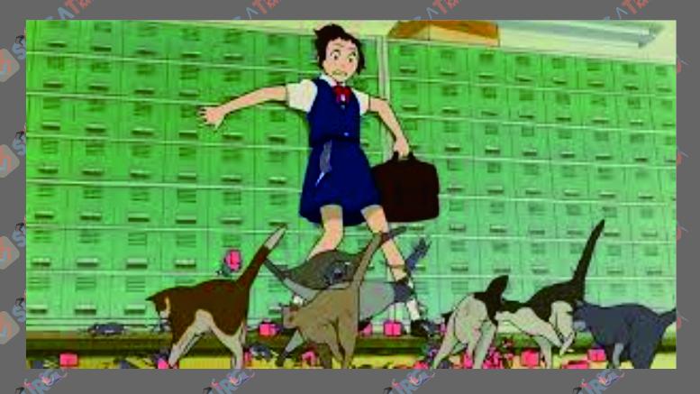Potongan Film Animasi The Cat Returns (2002)