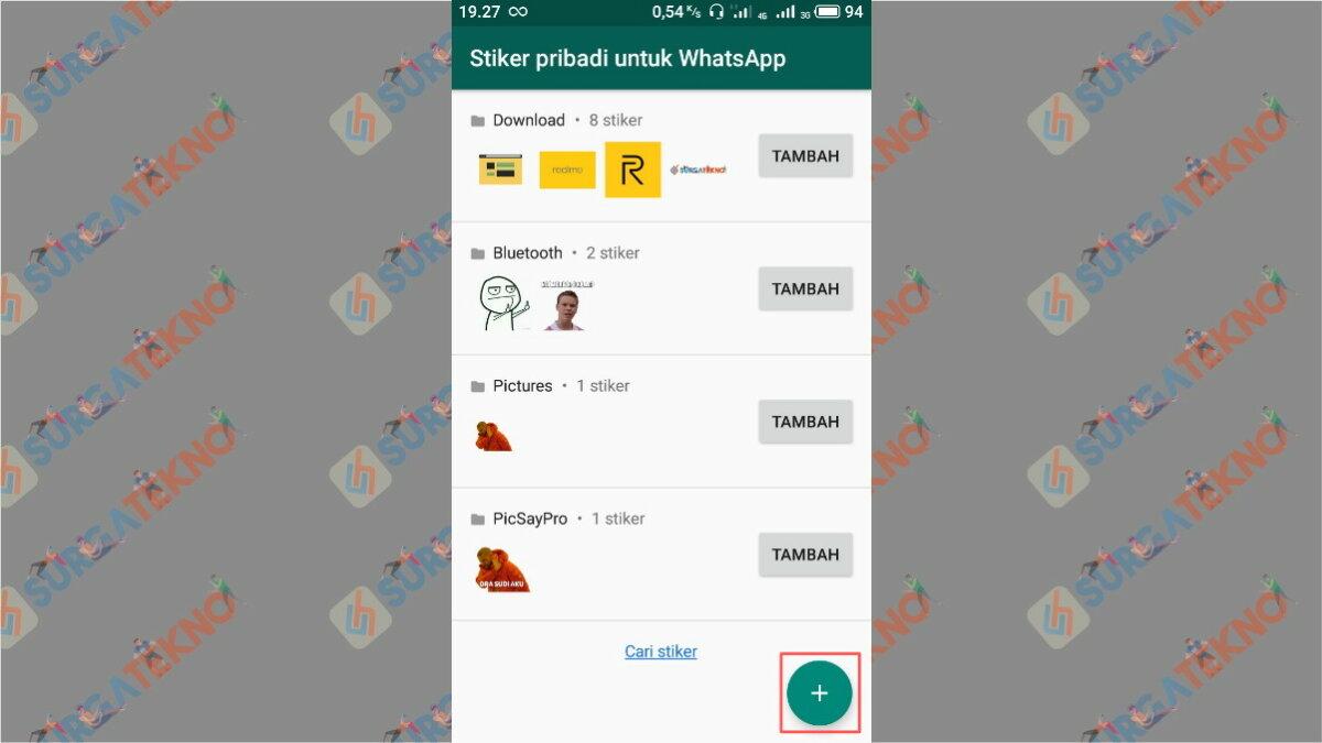 Tap icon plus - Surga Tekno