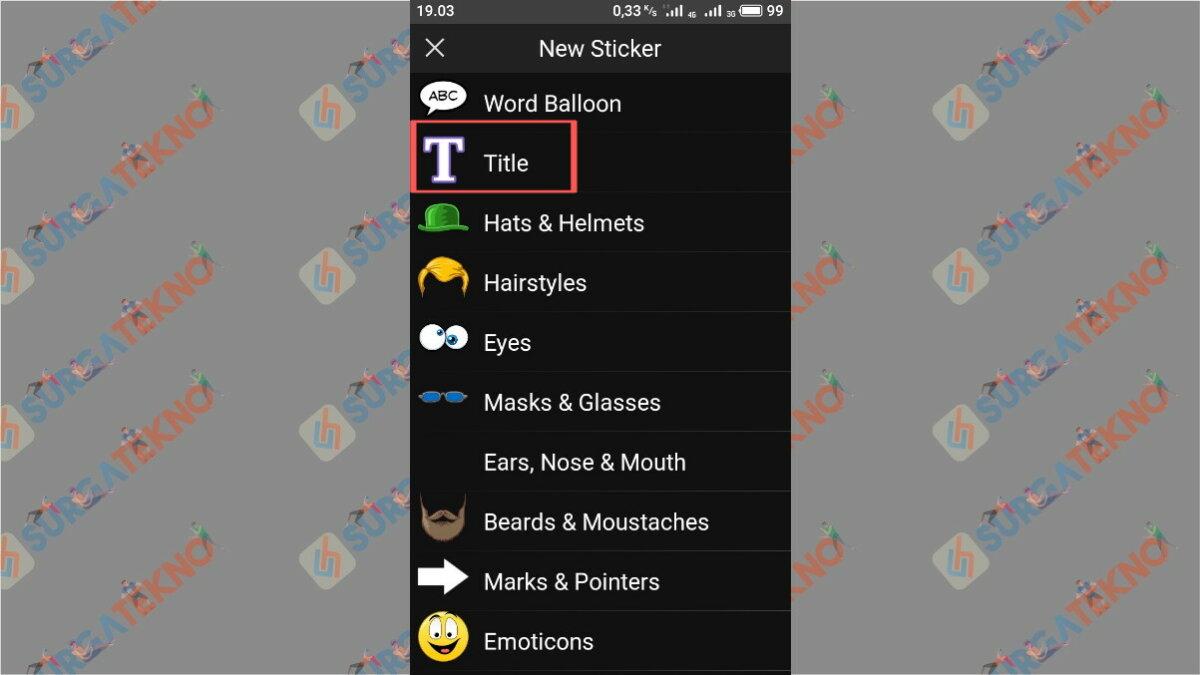 Tap Title - Surga Tekno