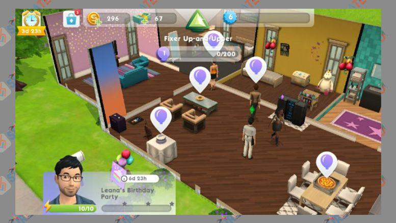 Banyak Berpesta - Tips Main Game The Sims Mobile