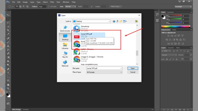 Cari File PDF - Cara Memperbesar Resolusi PDF dengan Photoshop