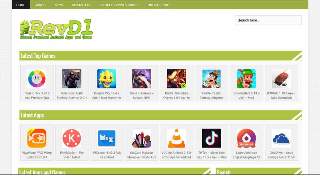 Situs Download APK MOD - Revdl