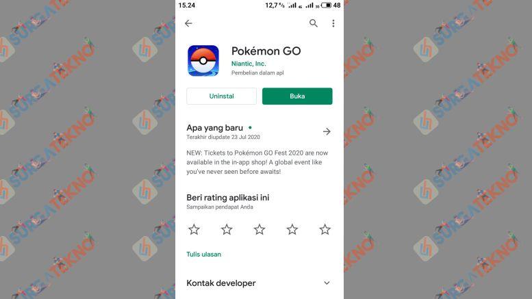 Tap Buka untuk Bermain Pokemon GO - Cara Install Pokemon Go