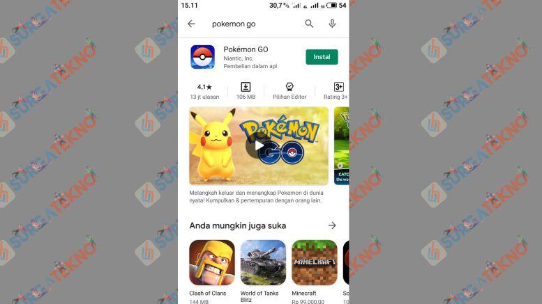 Tap Tombol Install - Cara Install Pokemon GO di Android