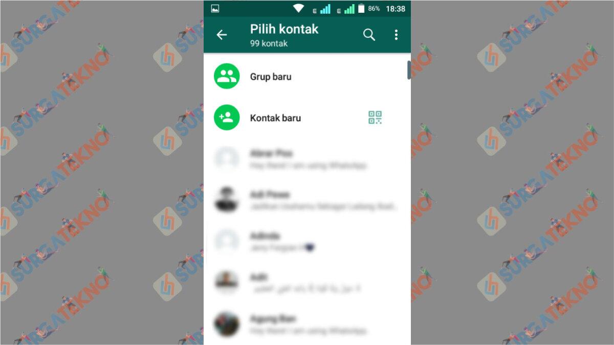 Daftar Kontak WhatsApp