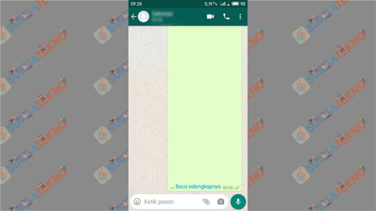 Berhasil Mengirim Pesan Kosong WhatsApp