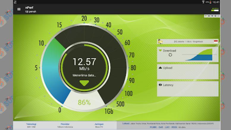 Speed Test 3G, 4G, 5G, WiFi, peta cakupan jaringan