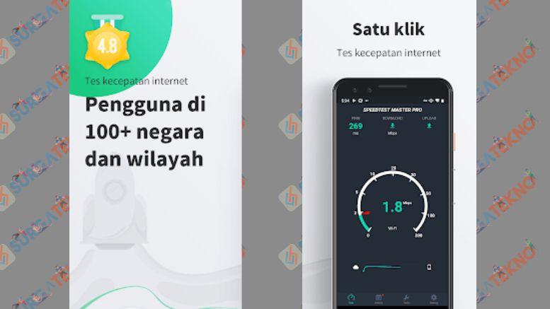 Tes Kecepatan Internet gratis -SpeedTest Master