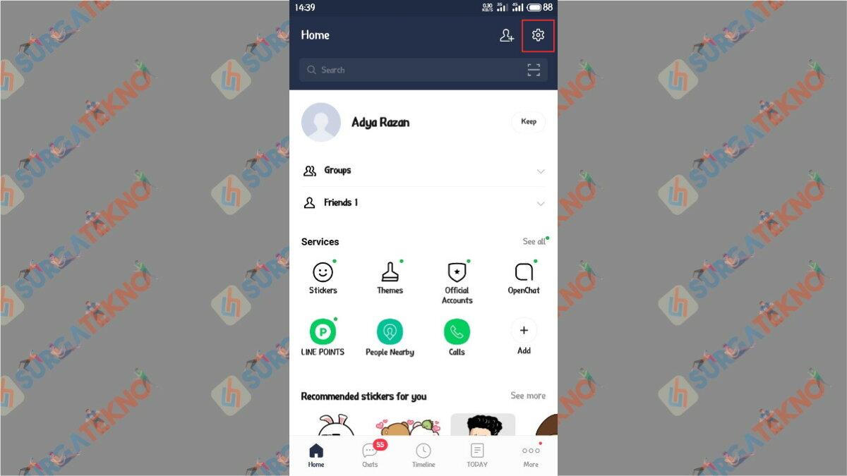 Tap Icon Gear