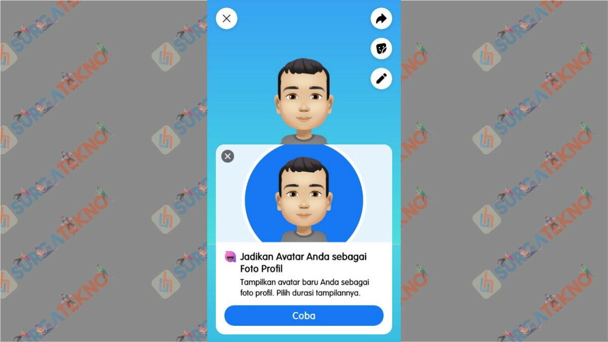 Avatar bisa dijadikan Foto Profil Facebook