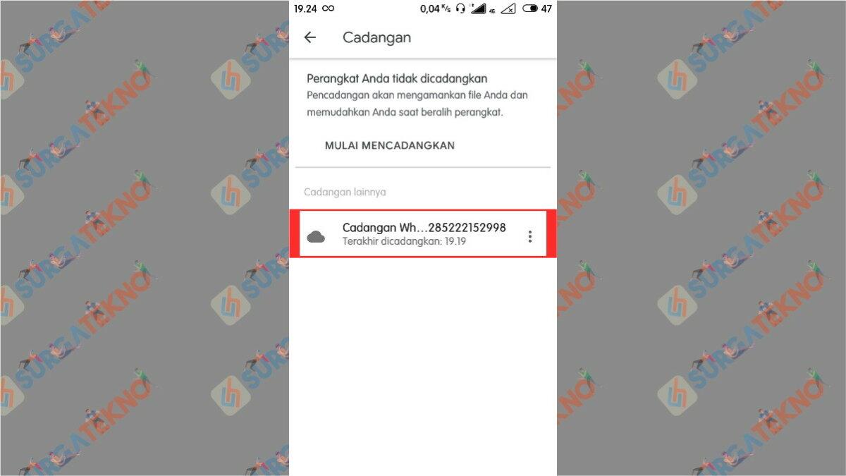 File Backup WhatsApp Terlihat