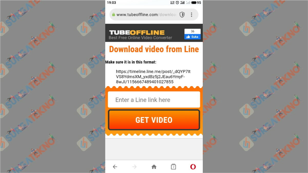Paste Link Lalu Get Video