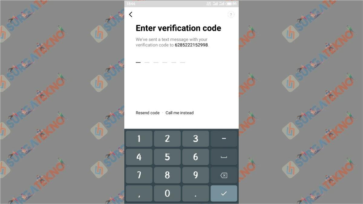 Masukan Kode Verifikasi