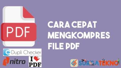 Cara Mengkompres File PDF