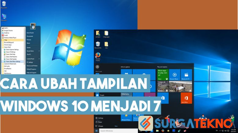 Cara Merubah Start Menu Windows 10 Menjadi Windows 7