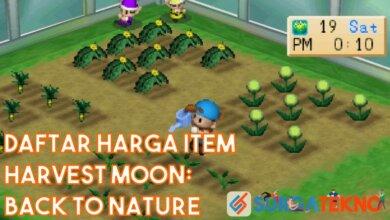 Daftar Harga Item Harvest Moon Back to Nature Lengkap