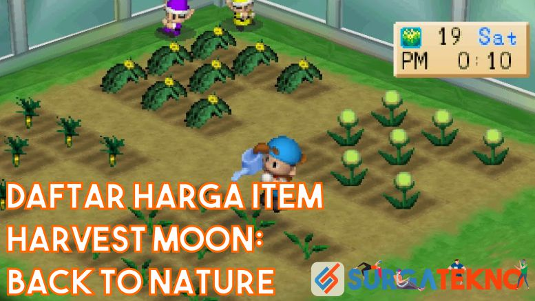 Daftar Harga Item Harvest Moon Back to Nature Lengkap