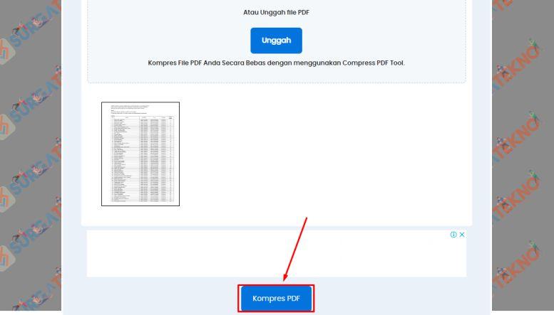 Klik Tombol Compress PDF