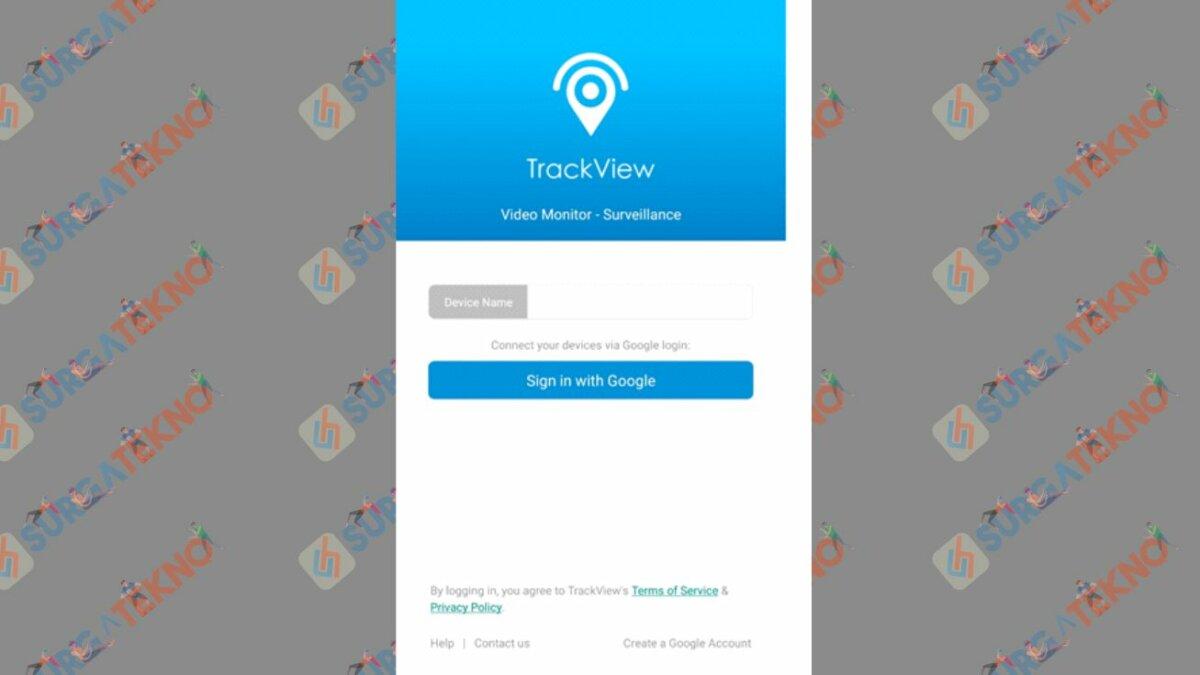 Login ke Aplikasi TrackView Lewat Akun Google