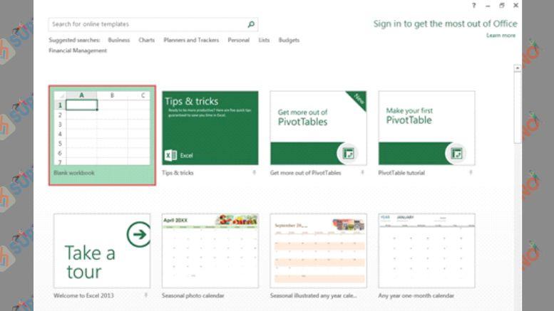 Pilih Blank Workbook - Cara Menghilangkan Pesan Ignore Error Pada Excel