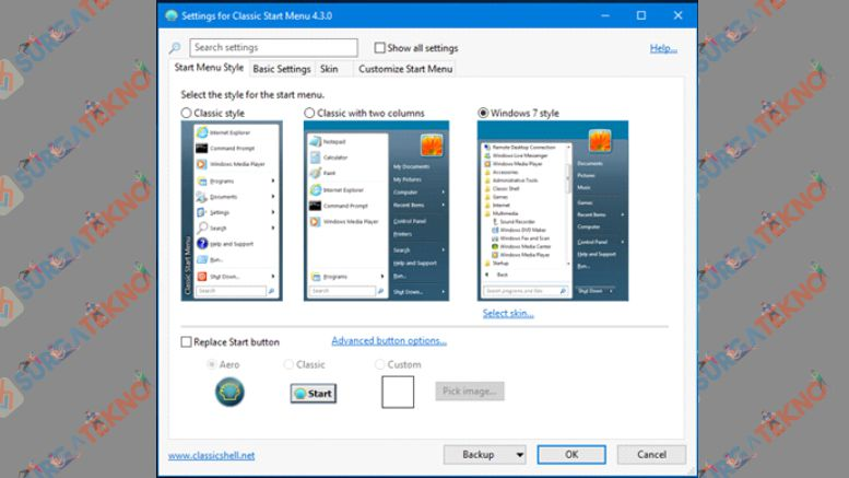 Pilih Menu Windows 7 yang Kamu Inginkan