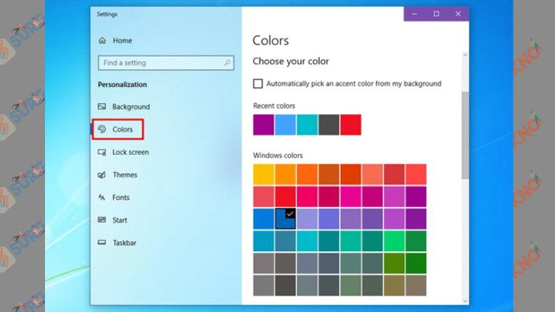 Pilih Warna Background Sesuai dengan Windows 7
