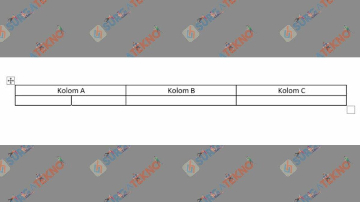 Tabel Selesai di Word