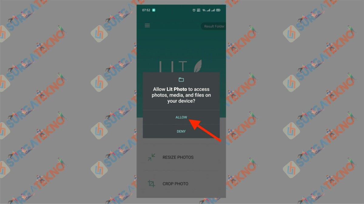 Beri Akses ke Aplikasi Kompres dan Ubah Ukuran - Cara Mengecilkan Ukuran Foto Menjadi 200 KB