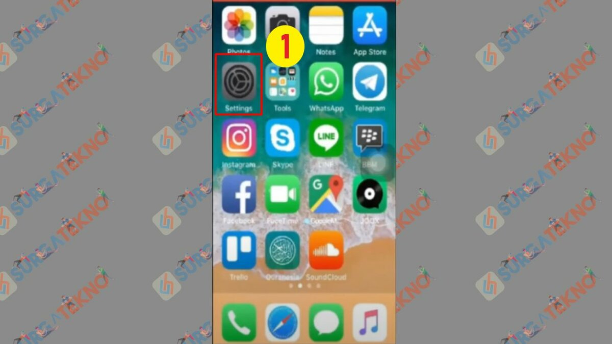 Buka Setting iPhone
