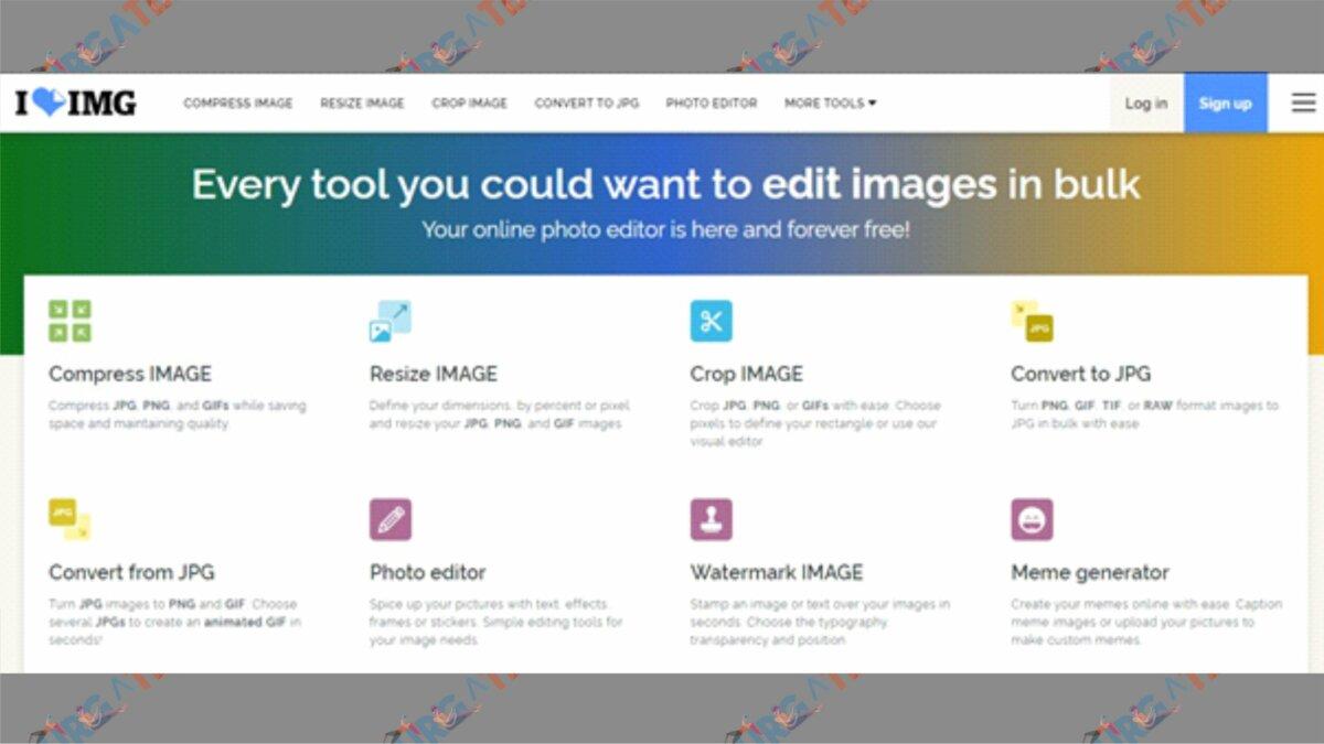 Buka Situs iloveimg - Cara Mengecilkan Ukuran Foto Menjadi 200 KB