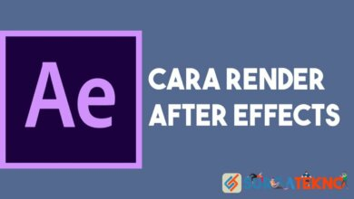 Cara Render After Effects