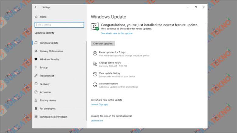 Cara Windows Update yang Beda