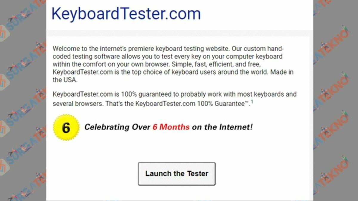 Keyboardtester.com - Aplikasi Test Keyboard