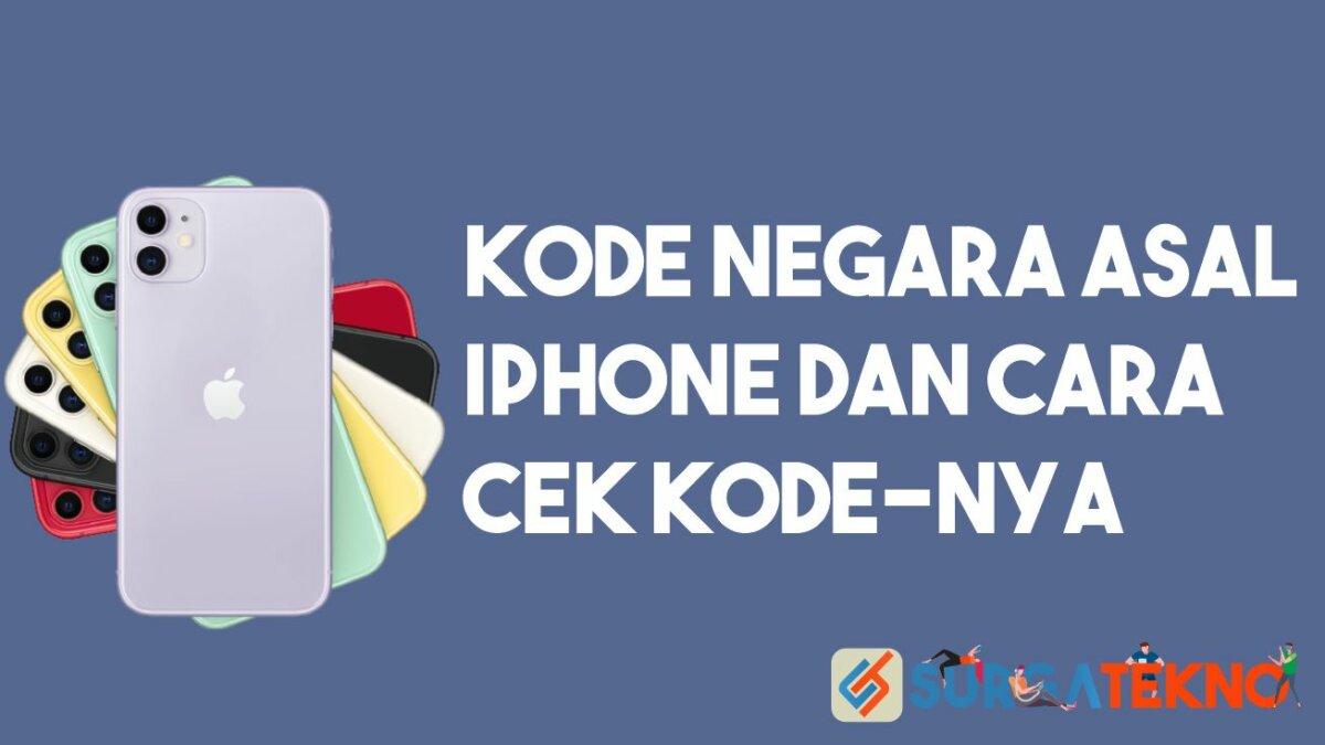 Kode Negara iPhone