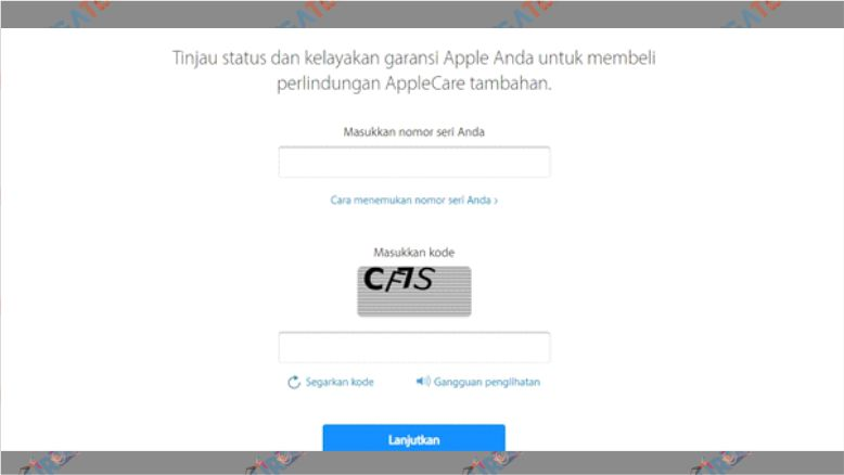 Kunjungi Situs Pengecekan Garansi iPhone