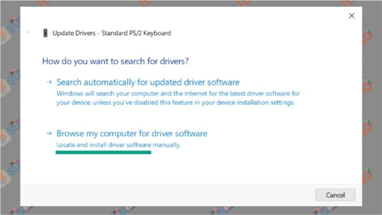 Pilih Browse My Computer for Driver Software