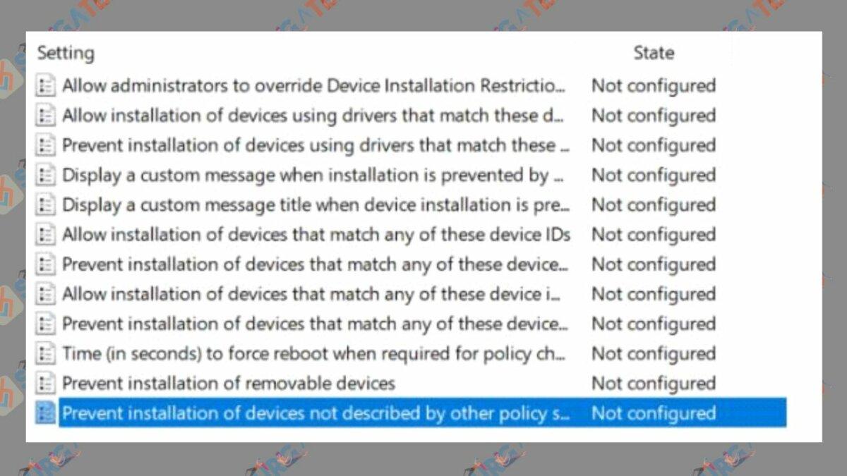 Prevent installation devices