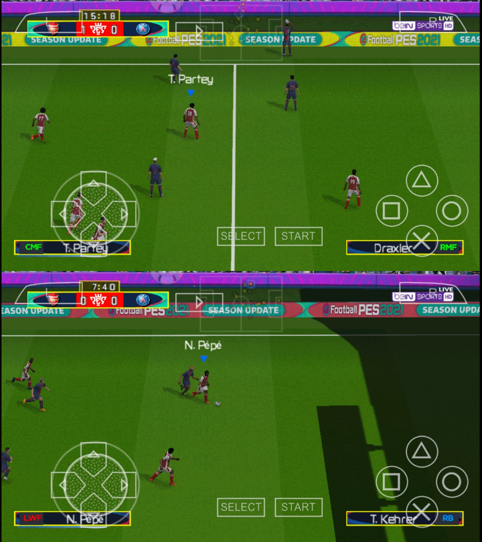 Gameplay PES 2021 Lite PPSSPP