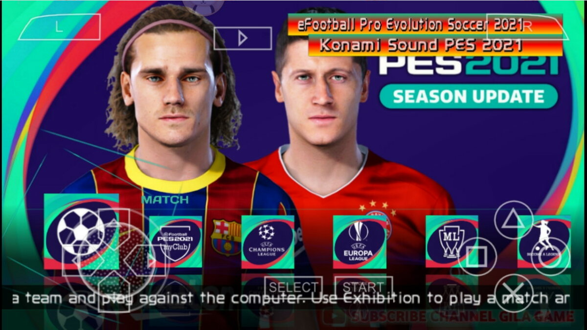 Home Game PES 2021 Lite PPSSPP