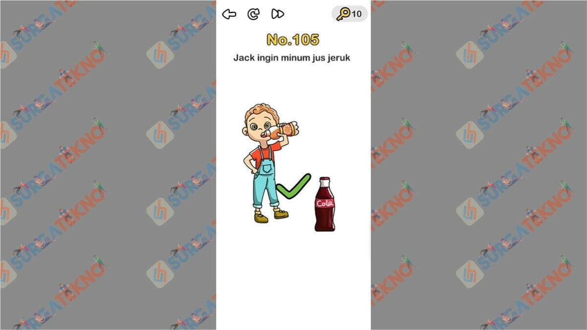Jack ingin minum jus jeruk berhasil diselesaikan