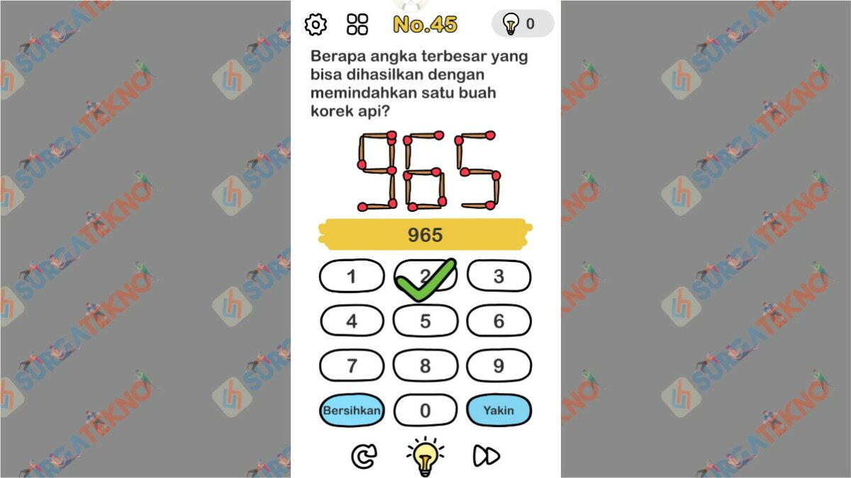 Jawaban berapa angka terbesar yang dihasilkan dengan memindahkan 1 buah korek api
