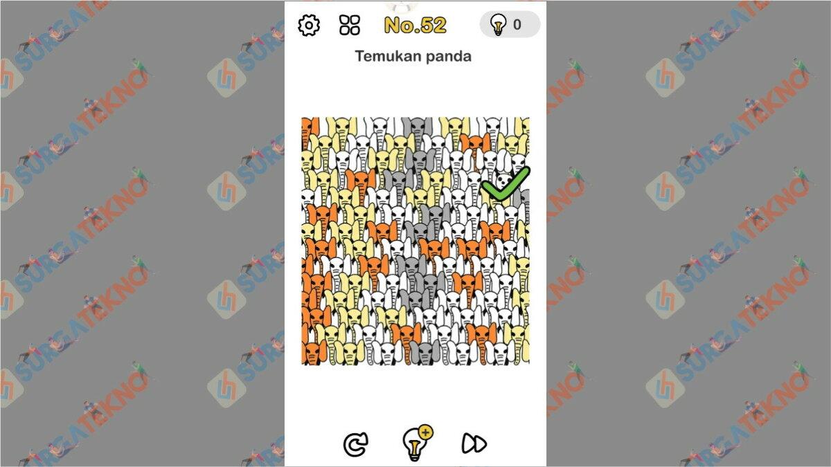 Jawaban Temukan Panda Brain Out Level 48/52