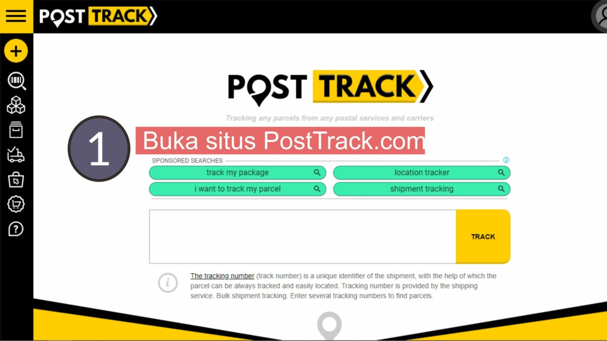 Pertama, Buka Situs PostTrack