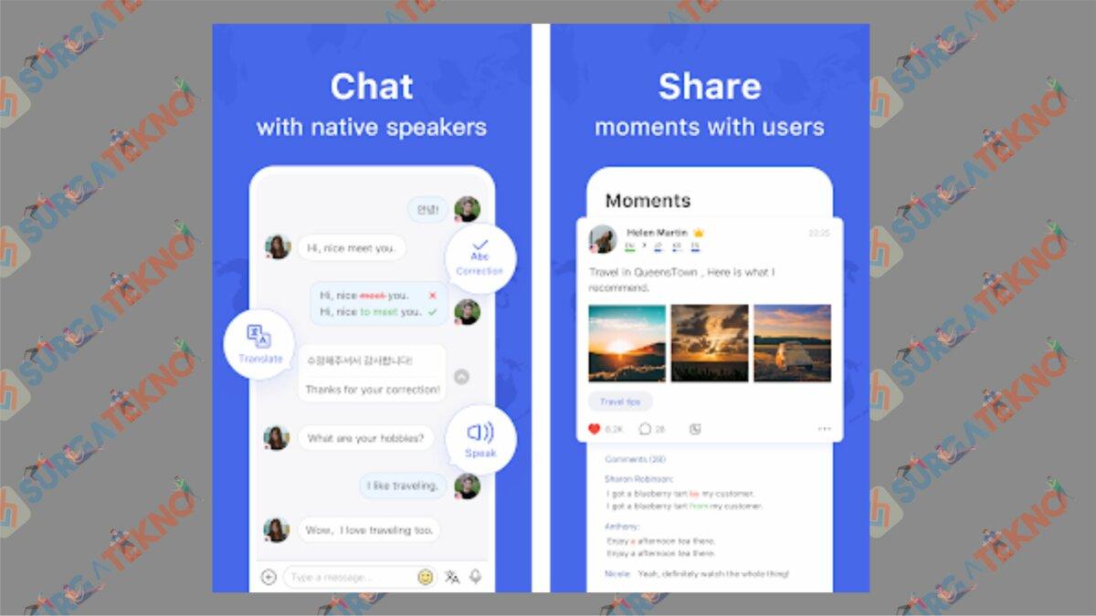 HelloTalk - Aplikasi Belajar Bahasa Inggris